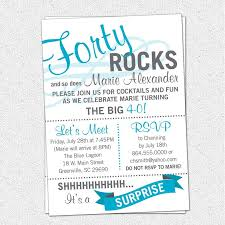 stunning 40th birthday party invitation wording design to create your own party invitations