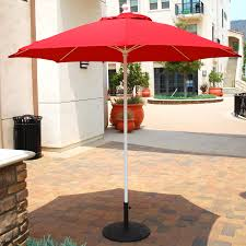 glamorous and nice patio umbrella for your patio decor idea red with white pole patio