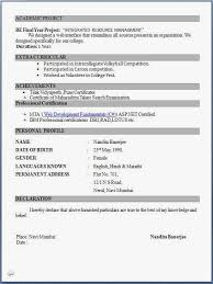 Resume For Fresher 28 Images Resume Exle For Freshers Bsc