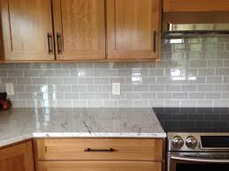 Granite Kitchen Tiles Grey Painted Cabinets With White Marble Pillowed Subway Tile