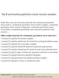 Top Community Psychiatric Nurse Resume Samples Web Image Gallery
