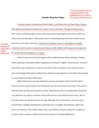how to write a thesis statement for personal response essay report essay examples sky outline for a compare and