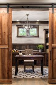 office barn. Beautiful Rustic Sliding Barn Doors Going Into This Home Office