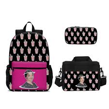 Charli D'Amelio School Backpack 18 Inch Lunch Bag Pencil Case 3 In 1 –  backpackline