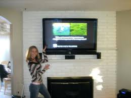 mounting tv on brick fireplace how to hide wires for wall mounted luxurious hide wires mounted