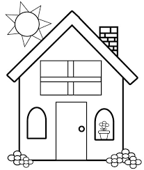 Small Picture Simple House Coloring Pages For Kids c2V Printable Houses