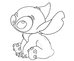 Stitch Coloring Pages Stitch Coloring Pages Plain Lilo Online Free