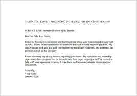Follow Up Thank You Email After Interview Template Milviamaglione Com
