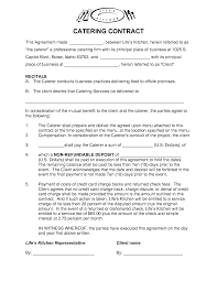 Record Label Contracts Templates Free Catering Contract Templates