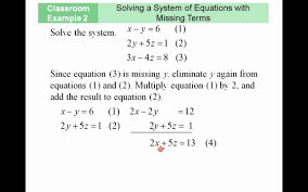 solving system with missing terms