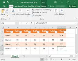 Sample Excel Document How To Insert Excel Table In Word Document Webnots