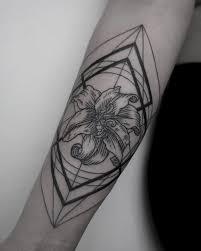 Geometric Orchid Tattoo Idea Geometric Tattoo Orchid Tattoo