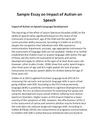 sample essay on impact of autism on speech sample essay on impact of autism on speech impact of autism on speech language development