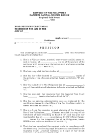 Court Document Templates Petition For Notarial Commission Template Notary Public