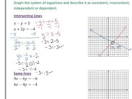 alg lesson solving systems of equations by graphing worksheet answers alg a large size