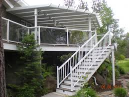 aluminum patio covers with skylights deck and stairs