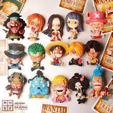 Mô hình One Piece chibi Luffy Zoro Sanji Ace Sabo Nami Robin Choper Usopp  Brook Franky Jinbei Boa Hancok Doflamingo Kuma