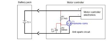 spark eliminator circuit 72v jpg anti spark circuit built into the motor controller 72v