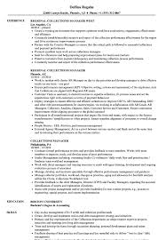 Collections Manager Resume Samples Velvet Jobs