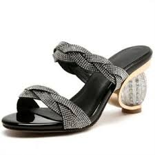 Ebay Asian Size Chart Details About New Fashion Big Size 33 43 Casual Rhinestone Elegant Slippers Shoes