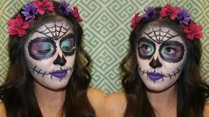easy glam sugar skull makeup tutorial day of the dead mexican sugar skull