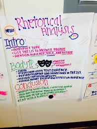 best rhetorical analysis images high schools  rhetorical analysis essay anchor chart