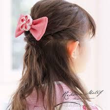 髪飾り 桃色 ピンク 白 梅 花 リボン つまみ細工 フェイクパール 縮緬