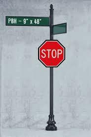 Decorative Street Sign Posts
