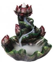 <b>Lotus Flower Backflow Incense</b> Burner - Wicca, Meditation