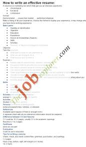 Top Tips for Writing Effective Resumes
