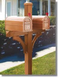 double mailbox post plans. Wooden Post For Two Mail Boxes | 4870 Deluxe 1 Sided Mailbox Posts Double Plans I