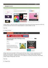 Web Design Articles 2015 40 Web Design Blogs To Follow In 2015 By Miabenitez805