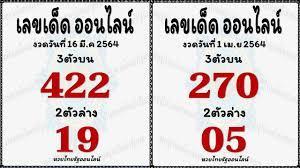 หวยไทยรัฐออนไลน์ เลขเด็ด แชร์ถึงจะถูกหวย งวด 16 เมษายน 2564 - แม่น้ำหนึ่ง
