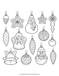 636x800 christmas ornament coloring pages mandala ornament black and white. Christmas Ornaments Coloring Page Free Printable Pdf From Primarygames