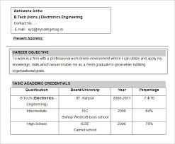 Electronics Engineering Resume Objective Free Doc Format