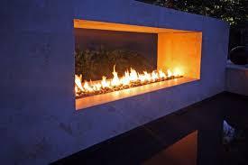line burner 8ft with decorative ceramic stone