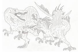 Spinosaurus Vs T Rex Coloring Pages Spinosaurus Vs T Rex Coloring