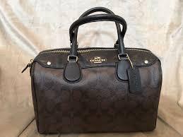 Coach Satchel Handbag with Brown Black Logo Print  Coach  Satchel
