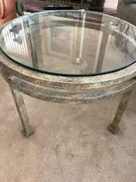 coffee table glass top metal frame san bruno
