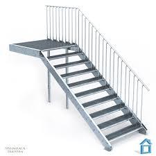 Ob am hauseingang, an der balkontür oder an der außen liegenden einganstür im 1. Aussentreppe Stahl Mit 10 Stahlstufen 120 Cm Treppenbreite Mit Podest 135 Cm Steinhaus Treppen Treppen Gunstig Kaufen