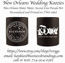 20 best wedding welcome bags images on pinterest wedding stuff Wedding Koozies Lafayette La hip new orleans second line handkerchiefs we are excited to introduce our new new orleans wedding koozies, with our water meter design art, and our second Personalized Wedding Koozies