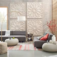 whitewashed wood wall art hexagon