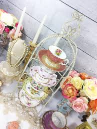 Cup And Saucer Display Stands 100 Tier Twisted Metal Shabby Chic Tea Cup and Saucer Display 17