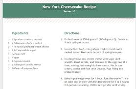 recipe book formats new york cheesecake recipe template printable to do list