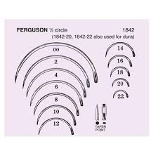 Surgical Needle Chart Needle Surgical Size 16d 1 2 Crcl Ndl Ss Frgsn Strl 2x72 Gr