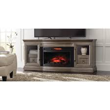 home decorators collection cinder lake 65 in tv stand infrared electric fireplace with sound bar