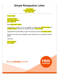 Resume Reason For Leaving Two Weeks Notice Letter Sample Free Download