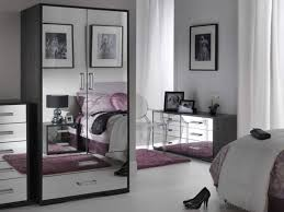smoked mirrored bedroom furniture as grey black glass