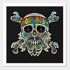 1540659 1 on rock n roll wall art with hippie flower power rock n roll hippie wall art teepublic