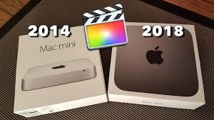Mac Mini 2014 Vs 2018 Final Cut Pro X Performance Demo